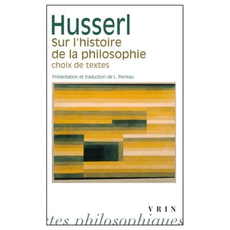 Sur l'histoire de la philosophie. Choix de textes Book Cover