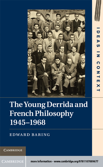 The Young Derrida and French Philosophy, 1945–1968 Book Cover