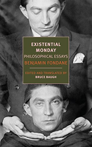 Existential Monday: Philosophical Essays Book Cover