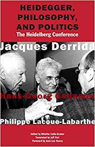 Heidegger, Philosophy and Politics: The Heidelberg Conference Couverture du livre