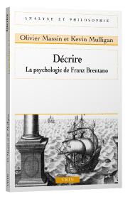 Décrire. La psychologie de Franz Brentano Book Cover